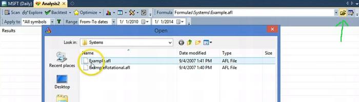Amibroker select folder